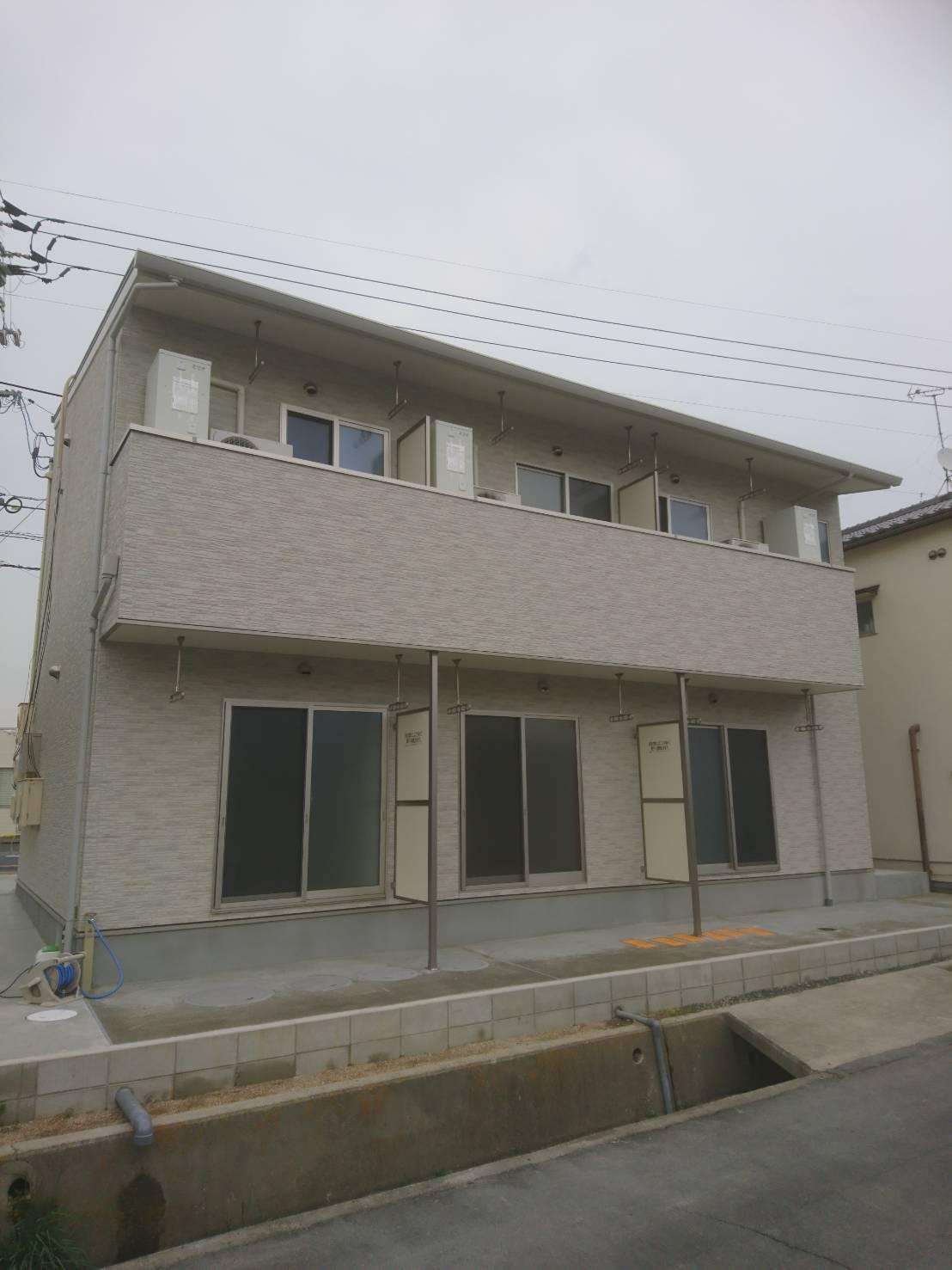 アパートの新築工事を行いました。画像