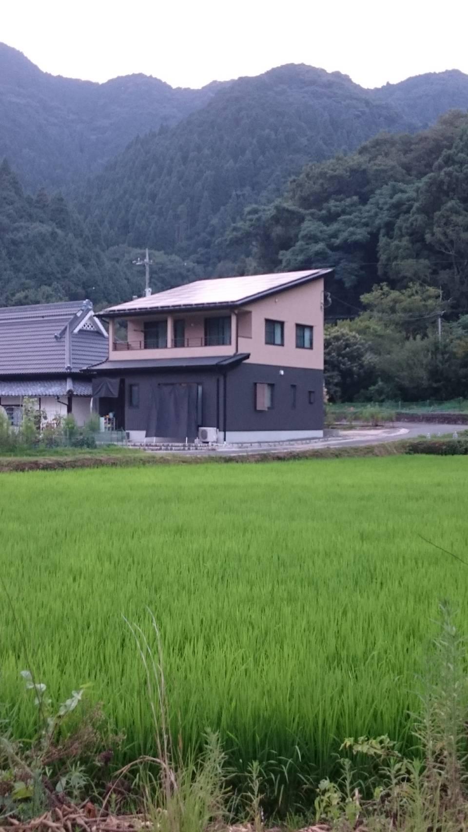 田園風景が似合う注文住宅が完成しました。画像